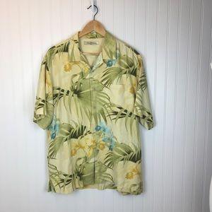 Tommy Bahama Silk Floral Hawaiian Shirt - Medium